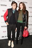 At the Big Sur screening, Andrew Bevan and Michelle Ouellet brightened up the carpet with bold red accents.