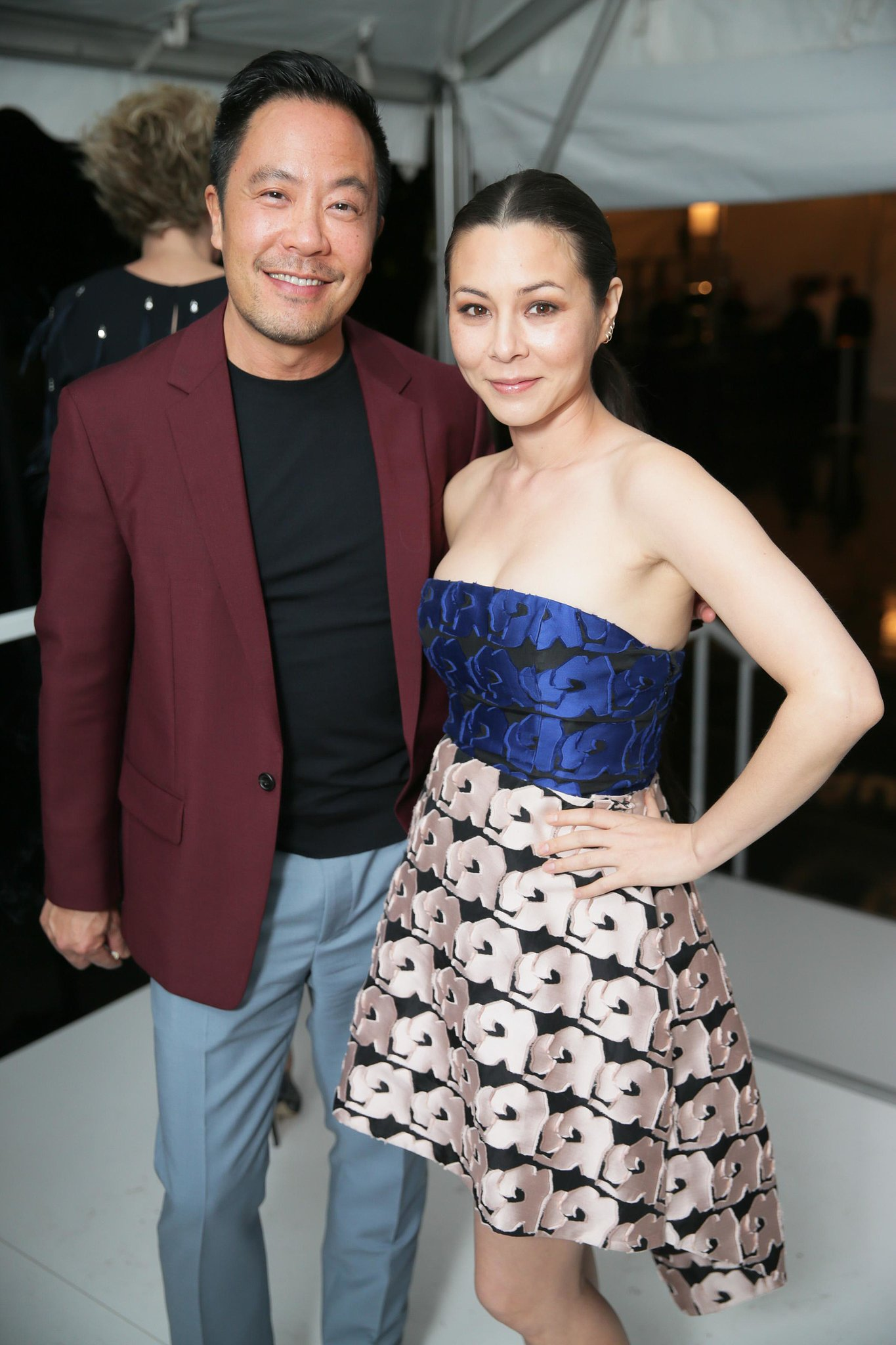 Derek Lam and China Chow paired up for a stylish shot at the Two x Two amfAR for AIDS and Art benefit.