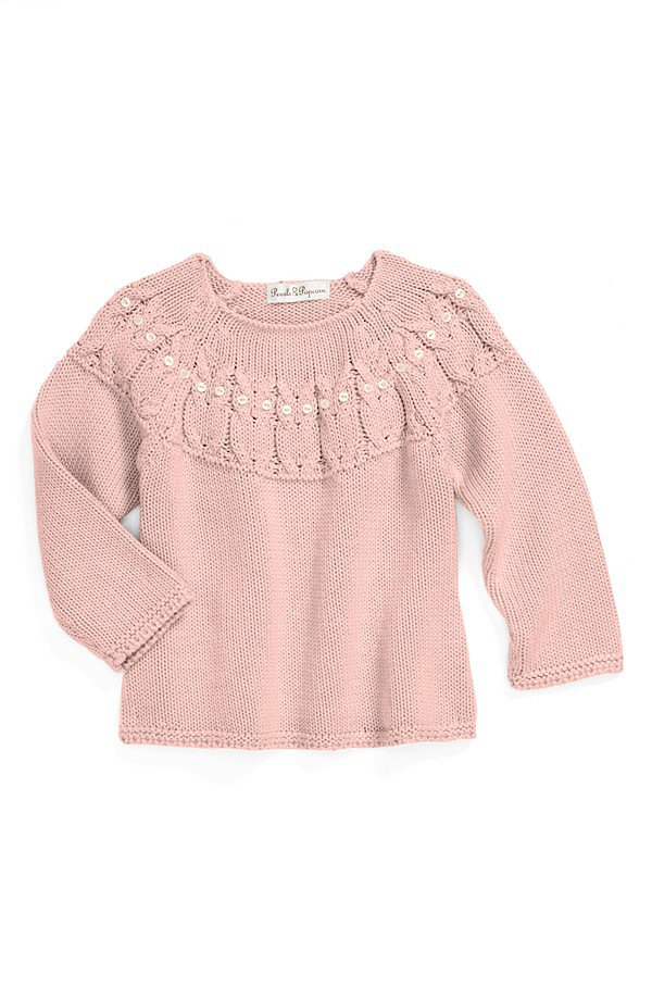 Pearls & Popcorn Knit Sweater