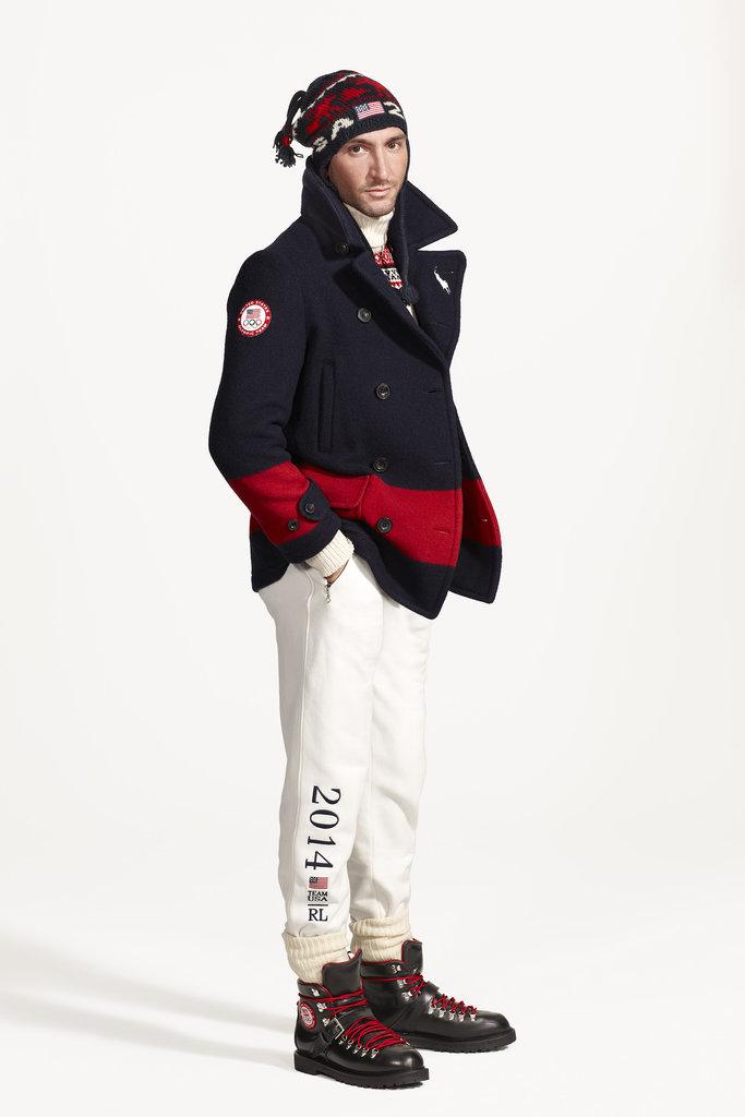 Evan Lysacek in Ralph Lauren's closing ceremony uniform. Photo courtesy of Ralph Lauren