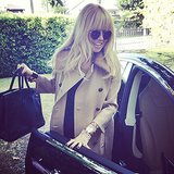 Rachel Zoe gave a glimpse of her baby bump before heading to an event. Source: Instagram user rachelzoe