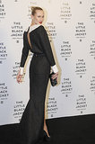 Alicia Kuczman wore a dramatic black gown to the Chanel Little Black Jacket event.