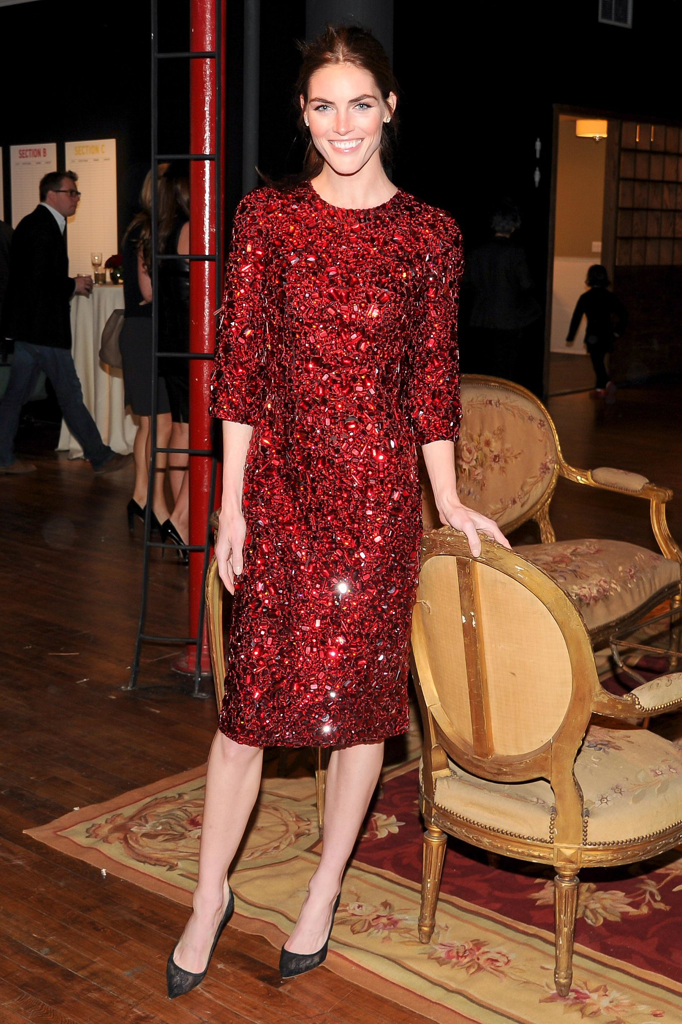 Hilary Rhoda sparkled at the Dolce & Gabbana Artwalk benefit.