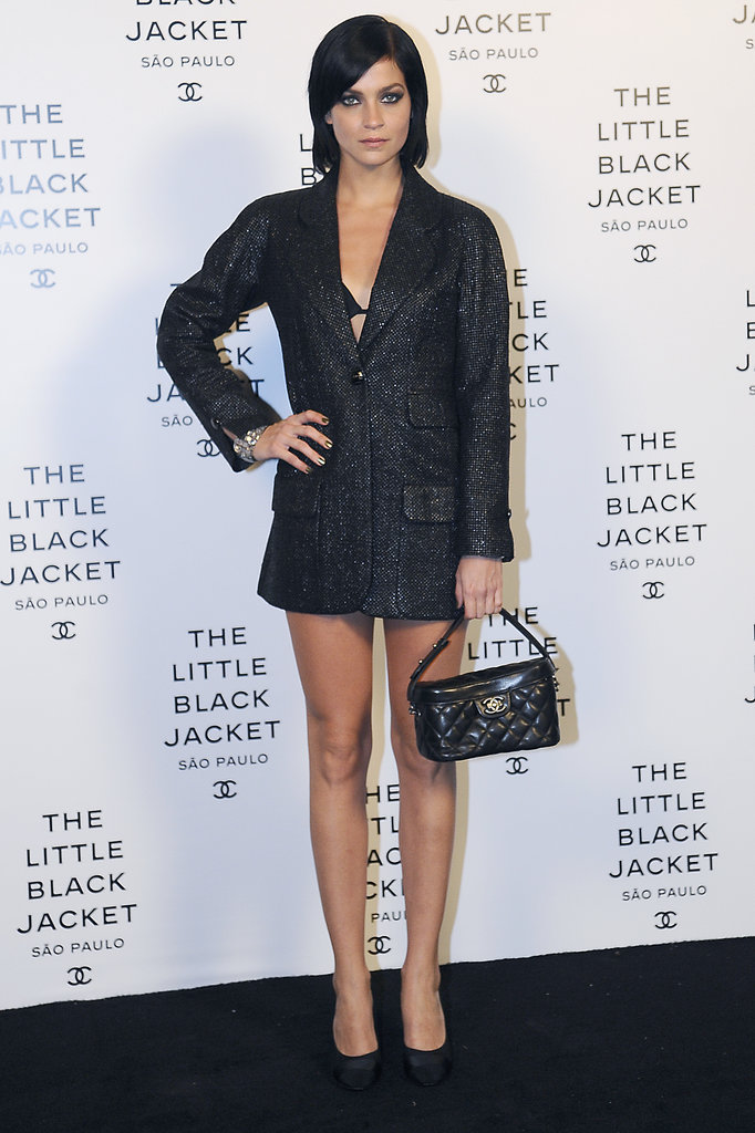 Leigh Lezark smoldered on the Chanel black carpet.