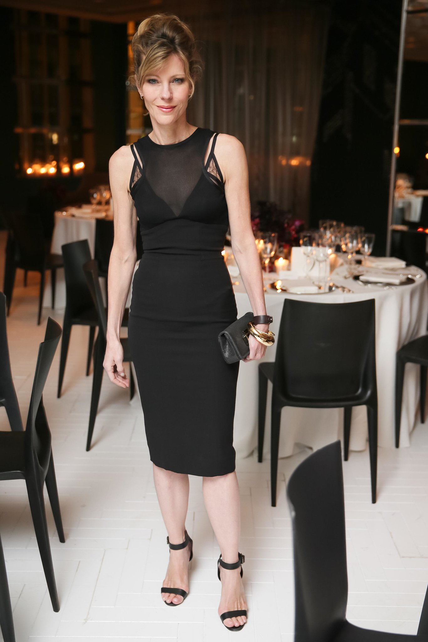 Robbie Myers's black was anything but basic at Elle's toast to Lori Goldstein.
