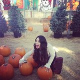 Vanessa Hudgens channeled her inner child at the pumpkin patch. Source: Instagram user vanessahudgens