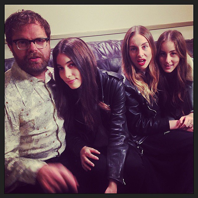Rainn Wilson lived out his girl-band fantasies while hanging out with the members of Haim. Source: Instagram user rainnwilson