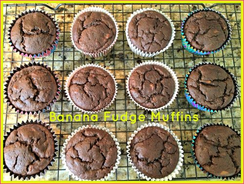 Banana Fudge Muffins
