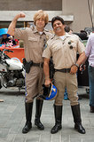 Carson Daly dressed up as Sgt. Getraer (aka, Robert Pine) for Halloween in 2013 on The Today Show. He got bonus Halloween help from Erik Estrada.