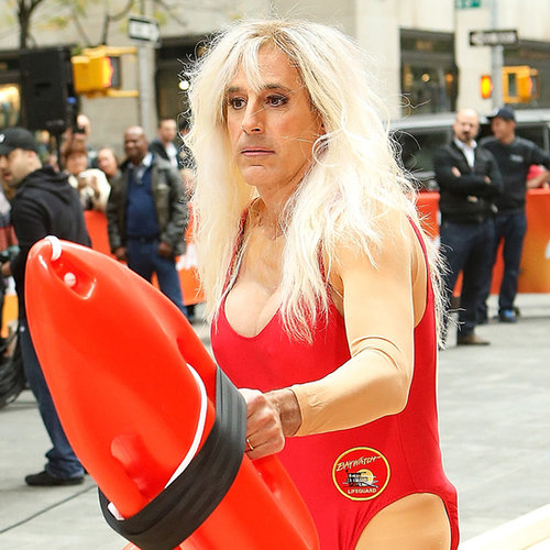 Matt Lauer as Pamela Anderson | GIFs and Photos