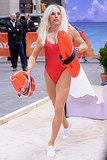 Matt Lauer dressed up as C.J. Parker, Pamela Anderson's character on Baywatch, for Halloween on Today.