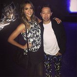 When at Kenzo, wear prints! Source: Instagram user jessicaalba