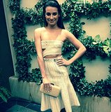 Lea Michele prepared for her chic red carpet turn in Calvin Klein Collection. Source: Instagram user msleamichele