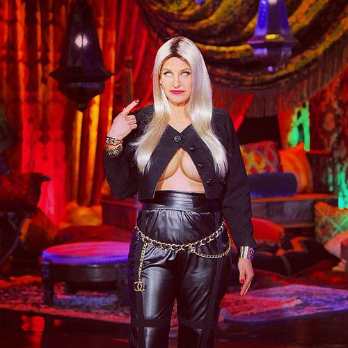 Nicki Minaj Ellen DeGeneres went for one of Minaj's more risqué looks. Source: Instagram user theellenshow