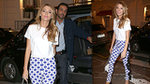 Blake Lively Perfects Printed Pants (Twice) in Paris!