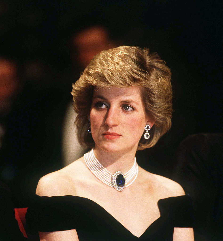 Diana looked glamorous sporting her signature brushed-up blowout.