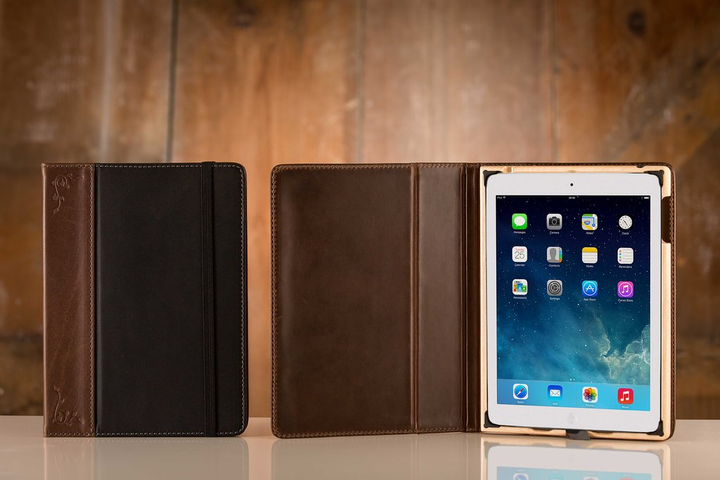 The Aria by Pad & Quill ($120, originally $130) is a little piece of luxury for the iPad Air. Each case is made of American cowhide leather and is handcrafted of birch wood perfectly tailored to keep the tablet in place.