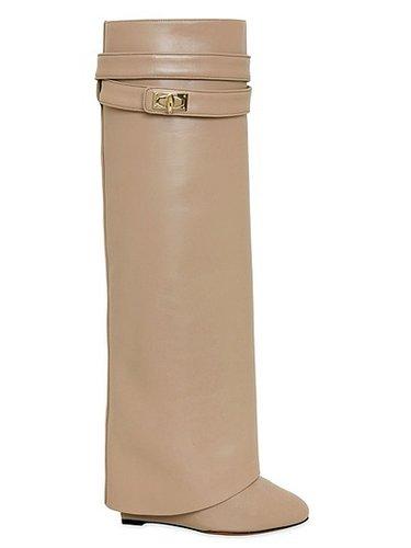 110mm Shark Lock Calfskin Tall Boots