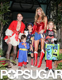 Denise Richards hit the streets of LA with her kids to collect candy.