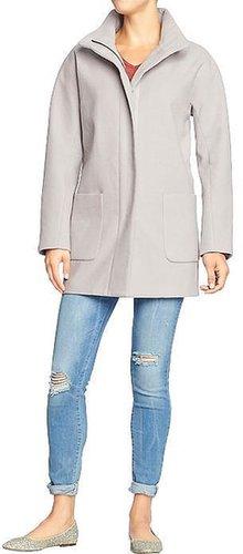 Women's Solid Blanket Coats