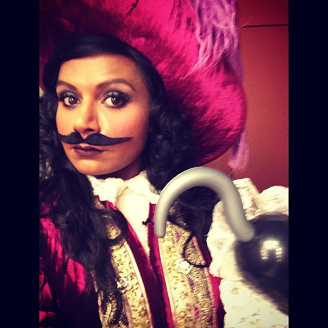Captain Hook Mindy Kaling was the cutest Captain Hook ever. Source: Instagram user mindykaling