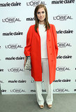 On their own, Allison Williams's relaxed Calvin Klein Collection separates were stylish. But when she layered them beneath the label's vibrant topper at Marie Claire's Power Lunch, she had an outfit of the week.