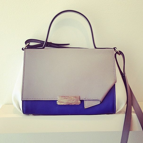 We love chic colorblocking, like on this Adeam bag.