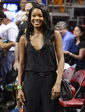 Gabrielle Union showed us she doesn't age when she hung out courtside to support her boyfriend, NBA player Dwyane Wade, at his Miami Heat kickoff game in Florida on Tuesday night.