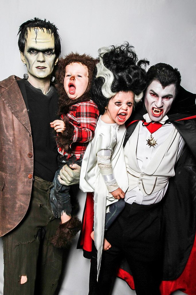Neil Patrick Harris and his husband David Burtka dressed as Frankenstein and Dracula while their twins, Gideon and Harper, went as a werewolf and Wife of