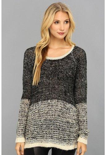 Gabriella Rocha - Color Block Knitted Sweater (Black) - Apparel