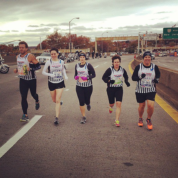 "Running proud, it's the Foot Locker Five Borough Challenge participants. A ""race within a race,"" Foot Locker picks five strangers, one from each of the five New York City boroughs to run and race against one another. Source: Instagram user runnersworldmag"