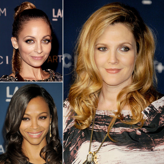 Zoë Saldana, Drew Barrymore, Kate Hudson Get Smoked Out at LACMA