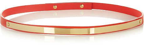 Sophie Hulme Leather and gold-plated belt