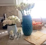 Lea Michele set a chic countertop with a lovely color palette. Source: Instagram user msleamichele