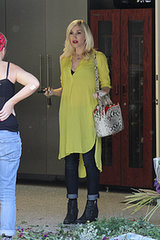 Gwen Stefani Takes Her Baby Bump For a Spin in LA