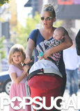 Busy Philipps headed to lunch with her daughters in LA.