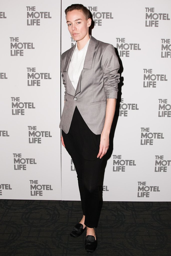 At the New York screening of The Motel Life, Elliott Sailors suited up.