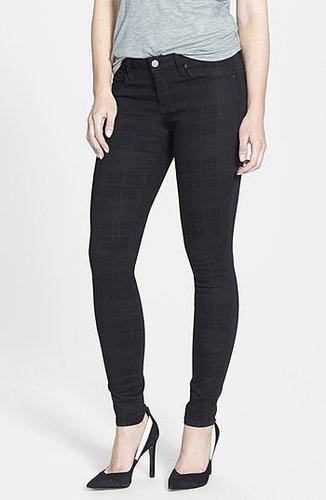 Genetic Denim 'Shya' Plaid Cigarette Skinny Jeans (Nocturnal)
