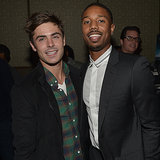 Zac Efron With Michael B Jordan At Vanity Fair Event