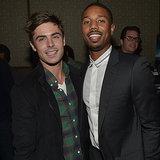 Zac Efron With Michael B Jordan At Vanity Fair Event