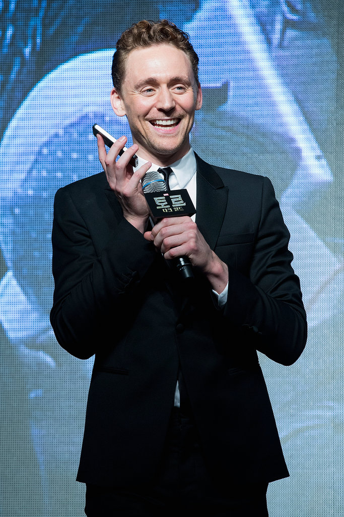 Tom Hiddleston took a call.