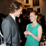 Tom Hiddleston charmed Jessica Chastain.