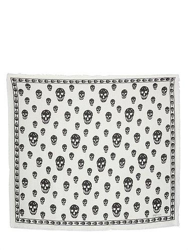 Skull Modal/Silk Pashmina Scarf