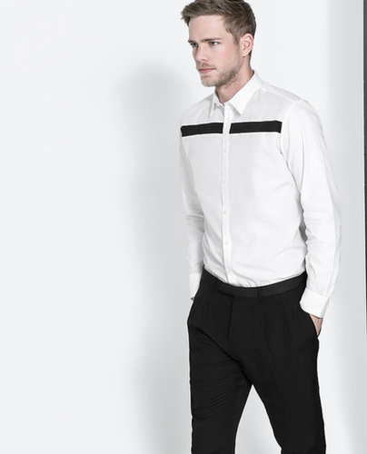 Structured Combination Shirt