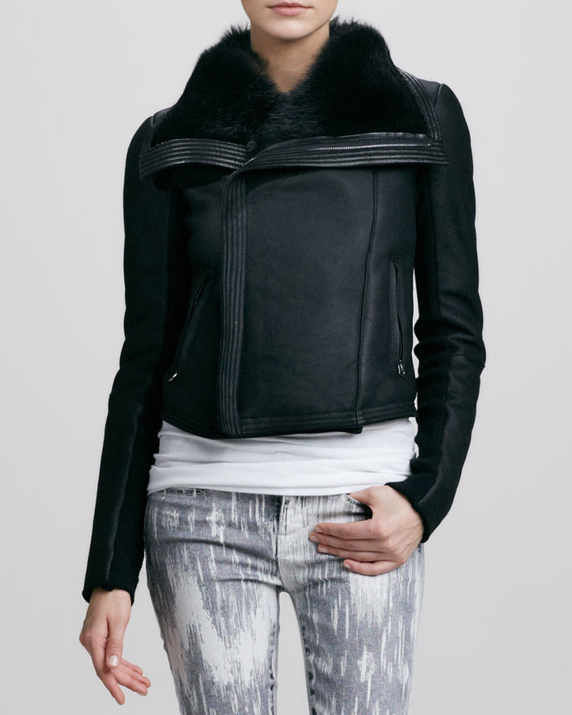 When your regular leather jacket just won't cut it against the Winter temperatures, consider upgrading to something with more bite, like this shearling-lined option ($1,950) from Vince.