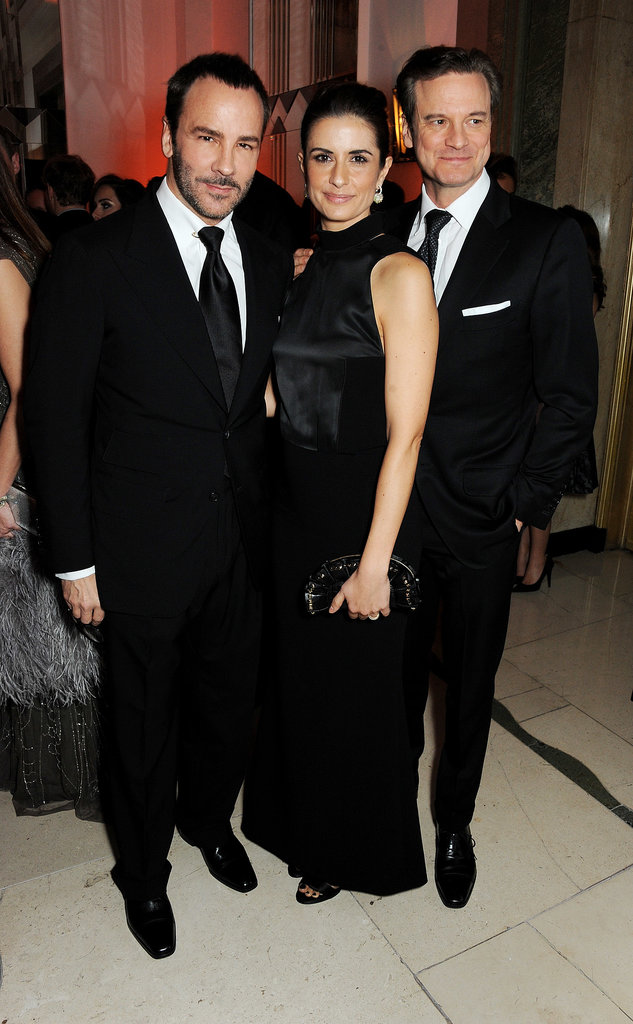 Tom Ford posed for photos with Livia and Colin Firth at the Harper's Bazaar Women of the Year Awards.