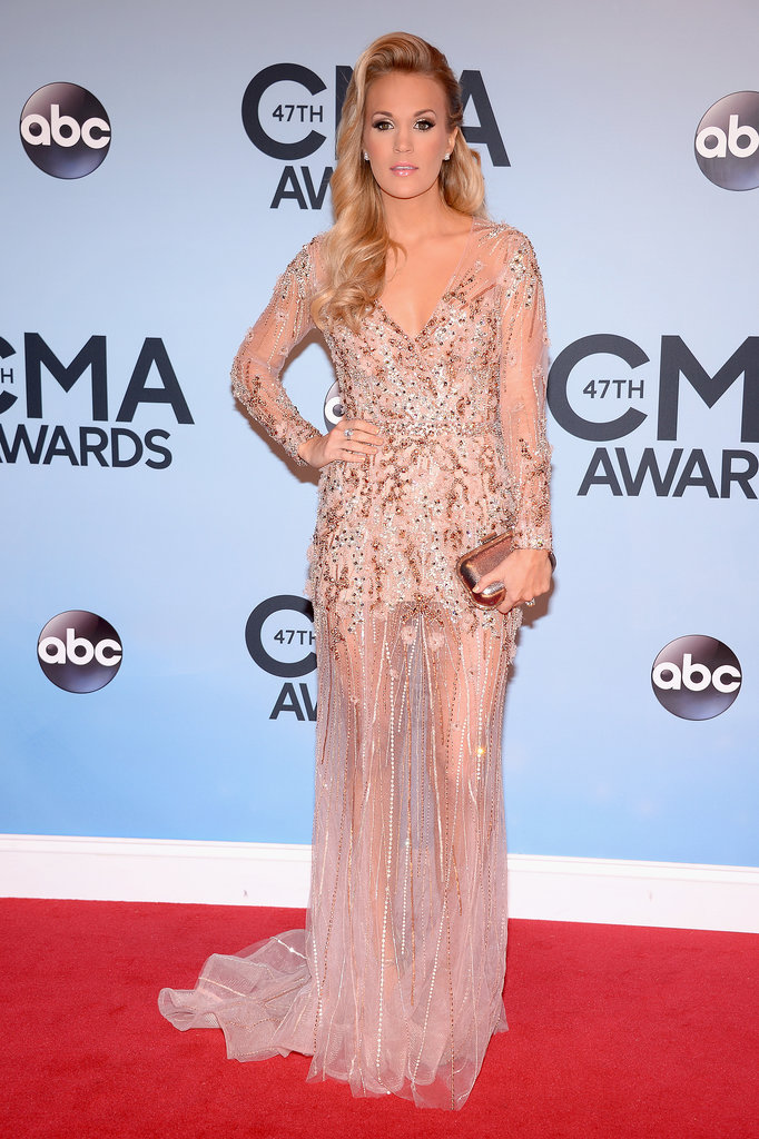 Carrie Underwood arrived to host the CMAs.