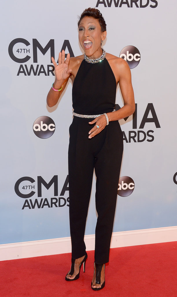 Robin Roberts let out a laugh at the CMAs on Wednesday night.