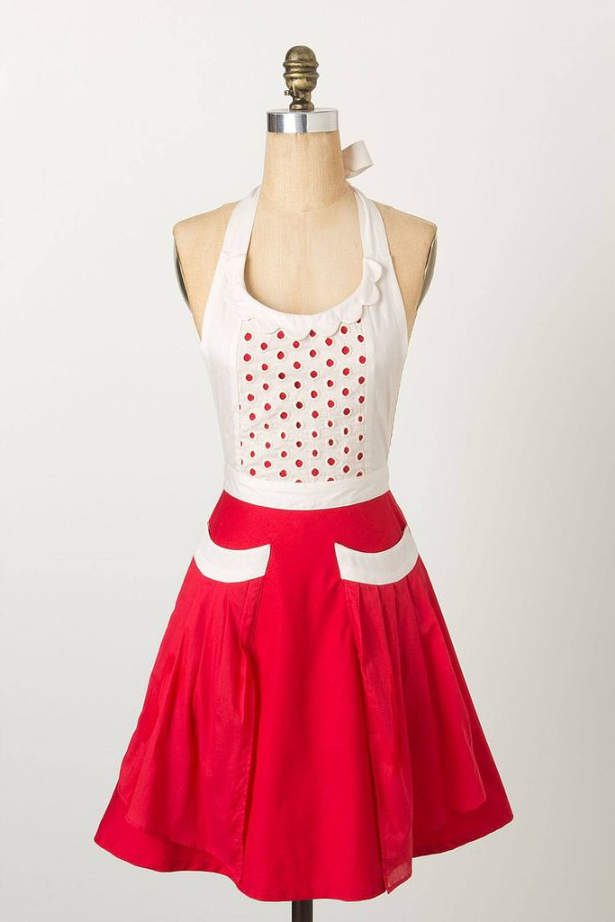 This red apron ($32) has a feminine, retro style — the perfect pick for a Betty Draper-esque hostess.