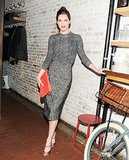 Hilary Rhoda stepped out for TOMS + Tabitha Simmons at the collaboration's launch event.